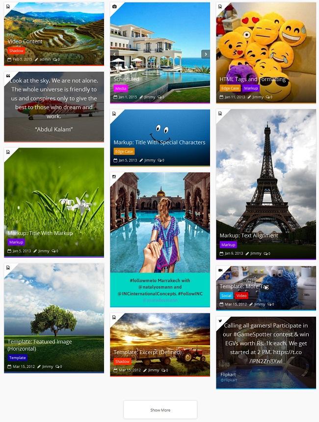 WPBakery Page Builder: Post |  Portfólio |  Stream social |  WooCommerce |  Layouts de grade de equipe - 1