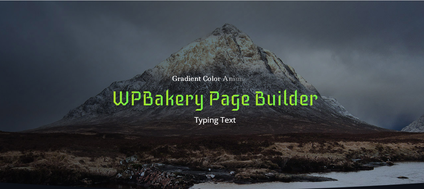 WPBakery Page Builder Animated Text and Typing Effect with Gradient - 1