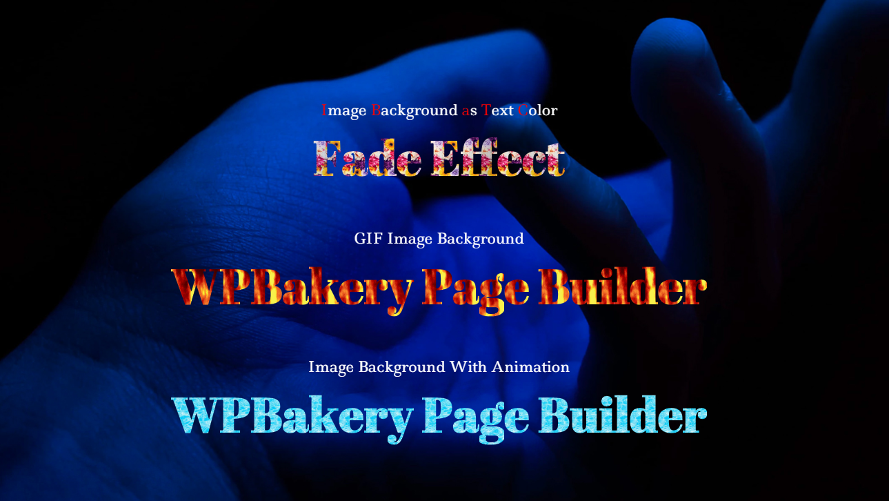 WPBakery Page Builder Animated Text and Typing Effect with Gradient - 2