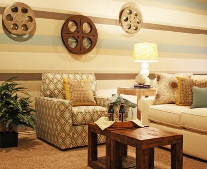 Contemporary-Horizontal-Stripes-for-Living-Room-Wallpaper